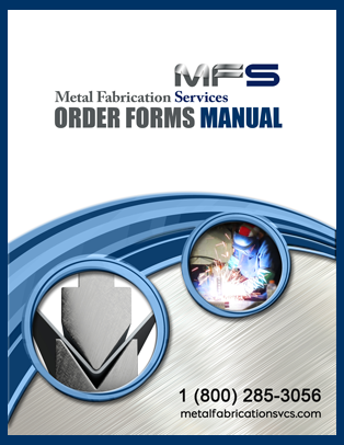 Order Forms Manual Cover, Eberl Metal Fabrication Services Division