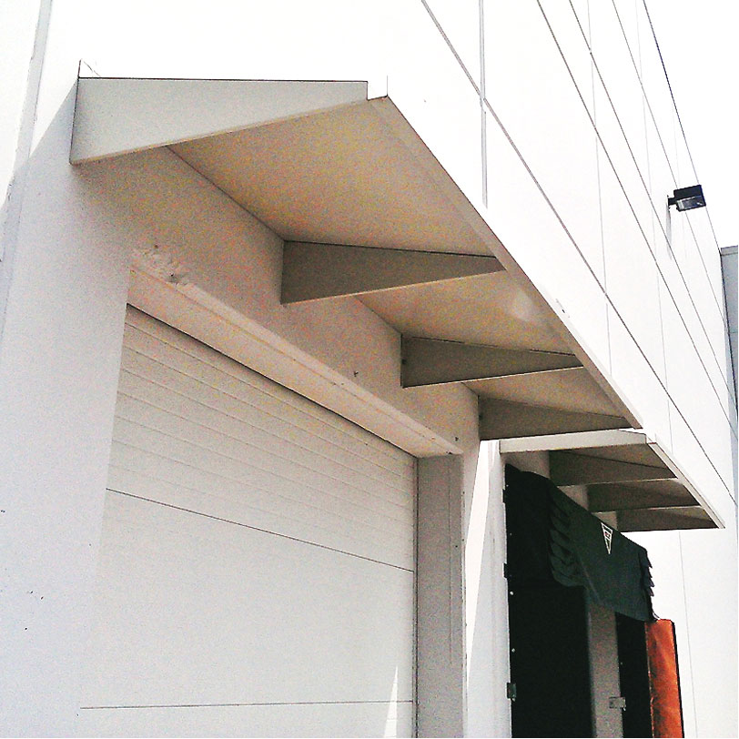 Metal Canopy for Loading Dock Door, Eberl Iron Works Metal Fabrication Services Division